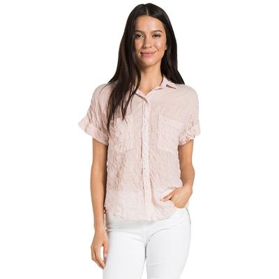 Bella Dahl Women's Rolled Short Sleeve Button Down Shirt
