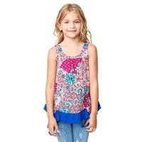 Hayden Girl's Patchwork Ruffled Tank Top