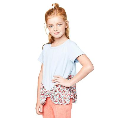 Hayden Girl's Bow Hemline T-Shirt