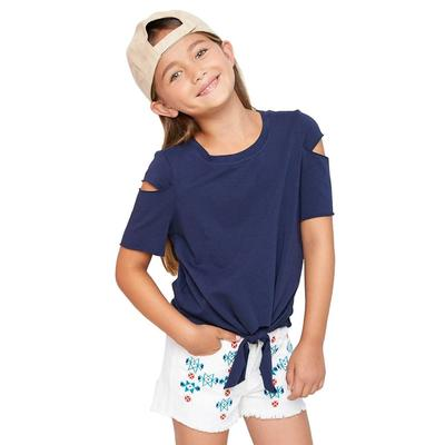 Hayden Girl's Tie Front Top