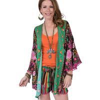 Ivy Jane Women's Brown Floral Kimono