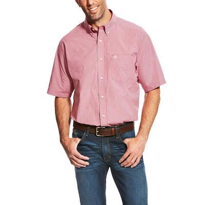 Ariat Men's Red Plaid Lindale Shirt