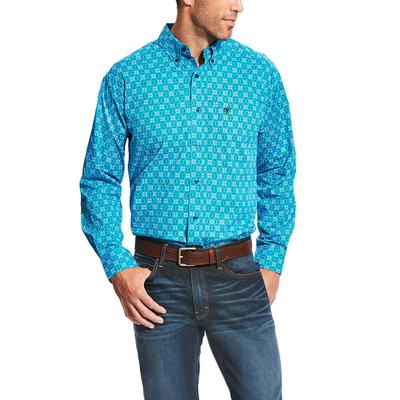 Ariat Men's Aqua Laketon Print Shirt