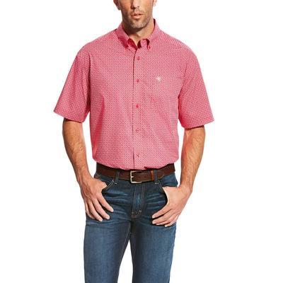 Ariat Men's Red Lennon Print Shirt