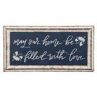 Filled With Love Metal Framed Sign