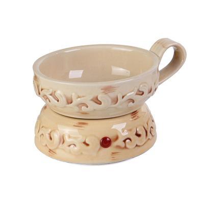 Swan Creek's Ceramic Wax Warmer and Dish