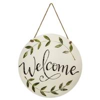 Welcome Hanging Door and Wall Sign