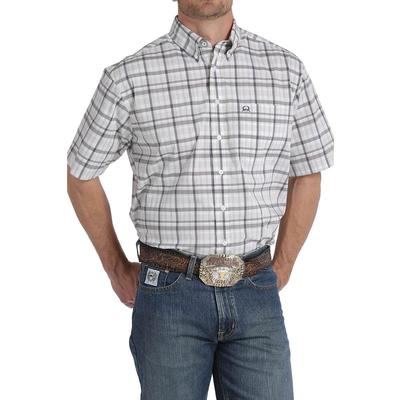 Cinch Men's Gray And White Plaid Arenaflex Shirt