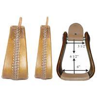 Chino Tack Wooden Overshoe Roper Stirrups