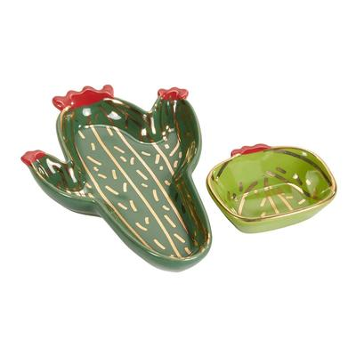 Cactus Trinket Dish Set