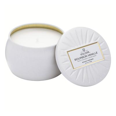 Voluspa's Petite Bourbon Vanille Tin Candle