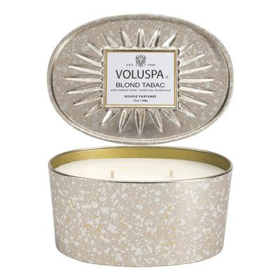 Voluspa's Oval Blond Tabac Tin Candle