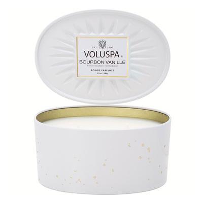 Voluspa's Oval Bourbon Vanille Tin Candle