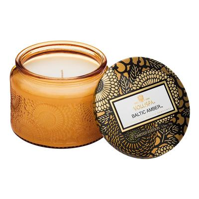 Voluspa's Petite Baltic Amber Embossed Candle