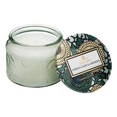 Voluspa's Petite French Cade Lavender Embossed Jar Candle