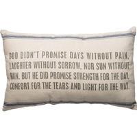 God Didn't Promise Linen Pillow