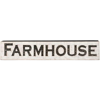 Large Carved Farmhouse Sign