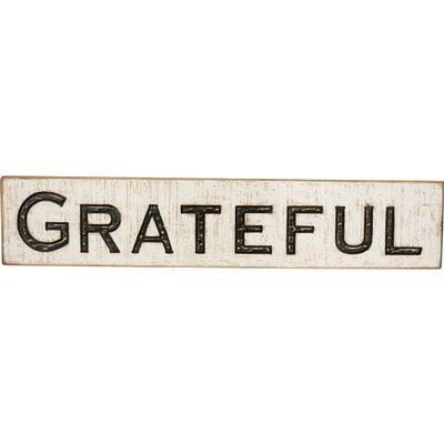 Carved Grateful Sign