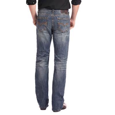 Rock & Roll Denim Men's Double Barrel Medium Wash Straight Leg Jean