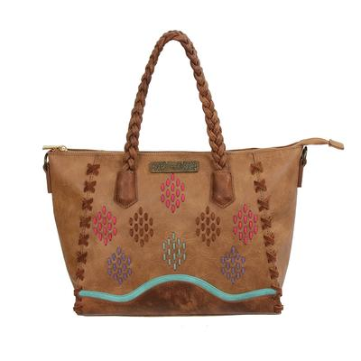 Catchfly Color Stitch Leather Purse