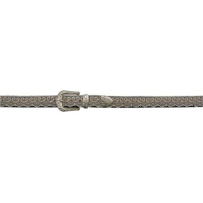 3d Women's Angle Ranch Leather And Lace Belt