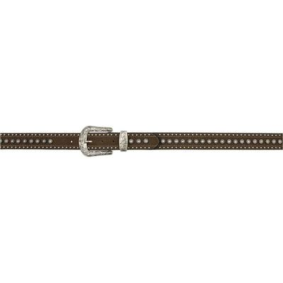 3d Women's Angel Ranch Brown Distressed Leather Belt