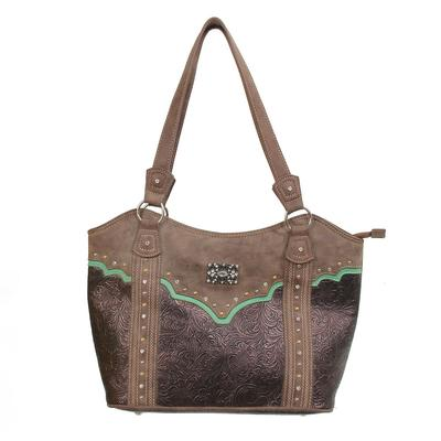 Catchfly Tooled Leather Concealed Carry Purse
