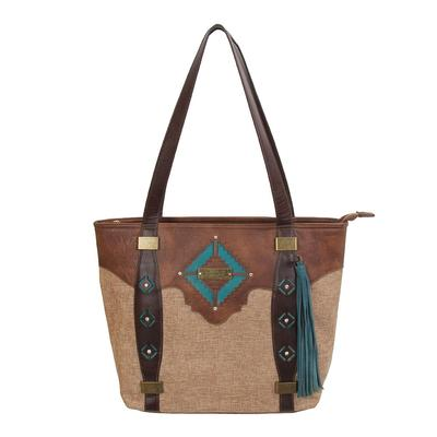 Catchfly Leather And Teal Concealed Carry Purse
