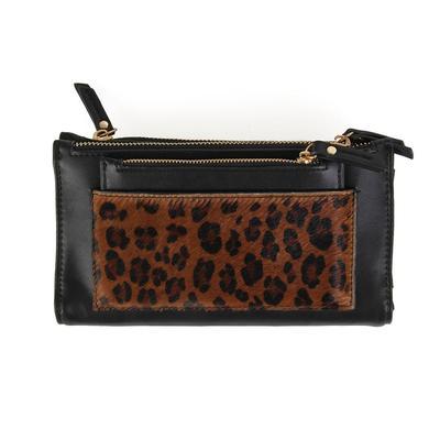 Black Leopard Clutch