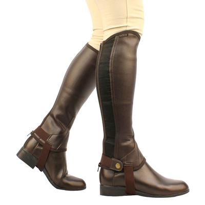 Saxon Equileather™ Brown Half Chaps Child Size Large