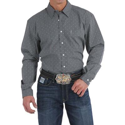 Cinch Men's Charcoal Geometric Print Shirt