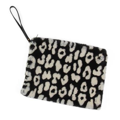 Black And White Fur Clutch