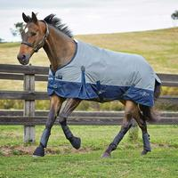 Saxon 600D Turnout Sheet Grey with Navy Size 75