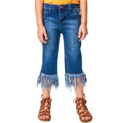 Hayden Girl's Frayed Denim Pants