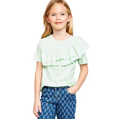 Hayden Girl's Asymmetrical Ruffle T-Shirt