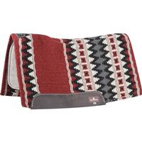 Classic Equine ESP Contour Wool Blanket Top Pad Red/Black