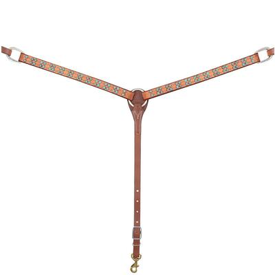 Martin Saddlery Breast Collar With Turquoise & Copper Trim