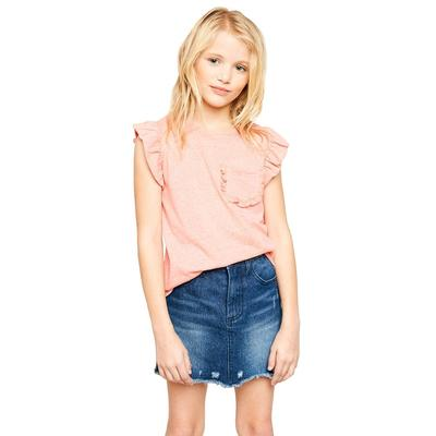 Hayden Girl's Ruffle Pocket Top