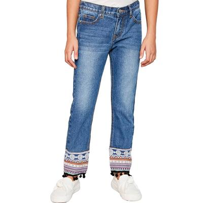 Hayden Girl's Embroidered Ankle Jeans