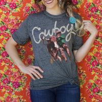 Rodeo Quincy Women's Grey Bull Dogger T-Shirt