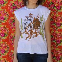 Rodeo Quincy Women's White Ride Em Cowboy T-Shirt