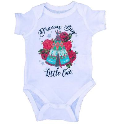 Rodeo Quincy Infant's White Dream Big Onesie