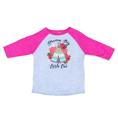 Rodeo Quincy Girl's Pink Dream Big Baseball T- Shirt