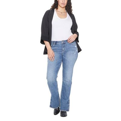Silver Women's Plus Size Medium Wash Avery Slim Boot Jeans
