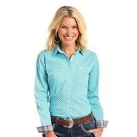 Panhandle Women's Turquoise Print Pitkin Shirt