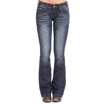 Rock & Roll Denim Women's Dark Wash Rival Boot Cut Jeans