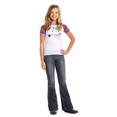 Rock & Roll Denim Girl's Medium Vintage Wash Trouser Jeans