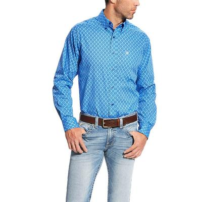 Ariat Men's Blue Marvel Print Fitted Shirt