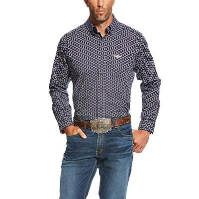 Ariat Men's Relentless Navy Bold Print Shirt