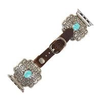 Wide Cross and Turquoise Stone Apple Watch Band
